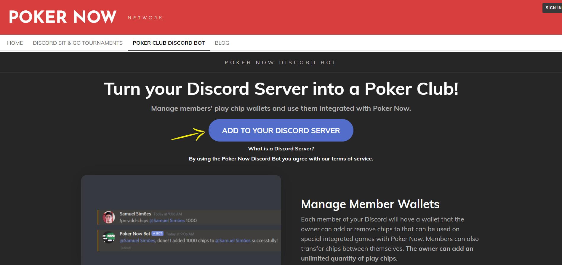 Adding Poker Now bot on your Discord Server